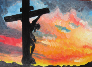 Croce-tramonto